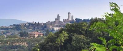 Toskana B&B - Weingut Poggio Belvedere -San Gimignano - Aussicht
