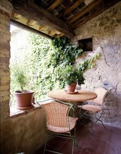 Toskana Ferienhäuser - Ferienhaus Niccolini - Loggia