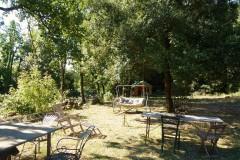 Toskana Ferienhaus Siena - Gartenbereich Papavero