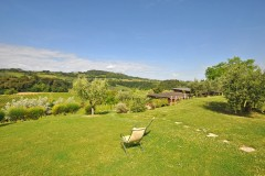 Ferienwohnung San Gimignano Pool | Gartenbereich Agriturismo