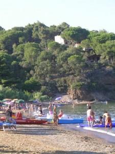 Strand nahe Ferienhaus Serefina