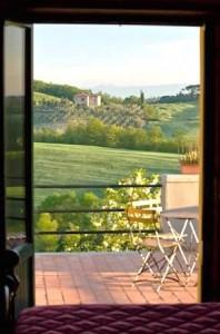 BB Toscana | Borgo Toscano | San Gimignano | Dreibettzimmer Terrasse