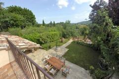 Ferienhaus Siena Toskana - Gartensicht von Dependance