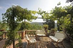 Ferienhaus Siena Toskana - Casa Leon - Gartenveranda