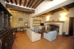 Ferienhaus Siena Toskana - Casa Leon - Wohnzimmer mit Kamin
