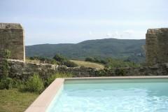Ferienhaus Siena Toskana - Panorama-Ausblick vom Pool
