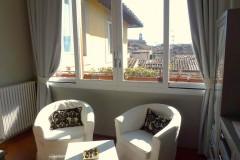 Luxus Ferienwohnung Florenz - Salon Ausblick