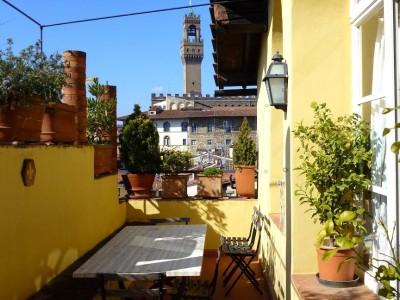 Toskana Ferienwohnung Florenz - Veranda