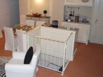 Ferienwohnung Florenz - Wohnbereich mit Zugang Zweibettzimmer