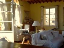 Toskana Ferienwohnung Florenz - Wohnbereich