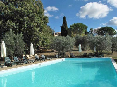 Ferienwohnung Toskana Weingut | Pool bei der Fattoria