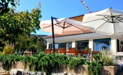 Elba Ferienhaus direkt am Strand   Villa Nora Terrassenansicht