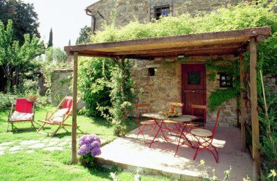 Sonnige Veranda Giallo | Ferienwohnung Toscana