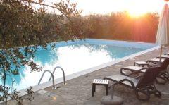 Ferienwohnung Weingut Toscana | Villa und Poolbereich